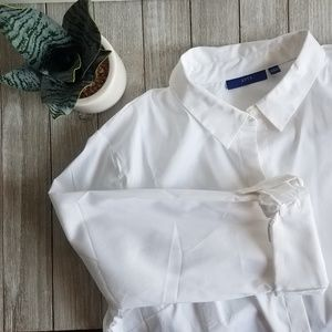 NWOT Apt.9 Structured White Button-down Blouse